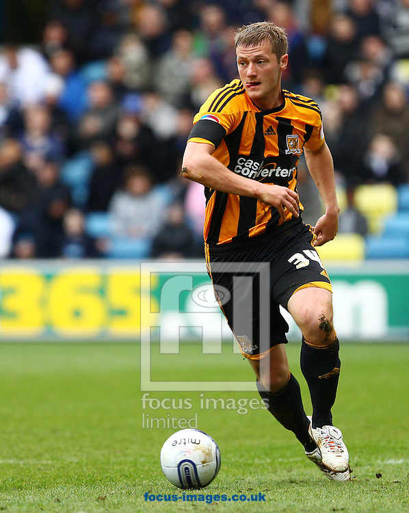 Picture by John Rainford/Focus Images Ltd. 07506 538356.07/04/12.Liam Cooper of Hull City during the Npower Championship match at The Den stadium, London.