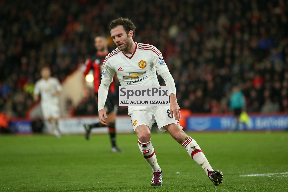 Juan Mata of Manchester United During Bournemouth vs Manchester United on Saturday the 12th December 2015.