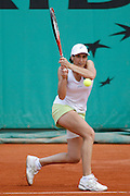 Roland Garros. Paris, France. May 29th 2007. 1st round..Virginie RAZZANO against Milagros SEQUERA.