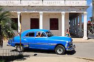 Old American car in Bauta, Artemisa Province, Cuba.
