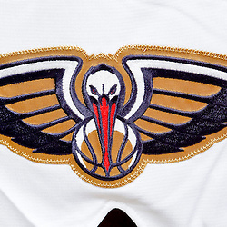 Sep 30, 2013; Metairie, LA, USA; A detail of a New Orleans Pelicans logo poses for a portrait at Pelicans Practice Facility. Mandatory Credit: Derick E. Hingle-USA TODAY Sports