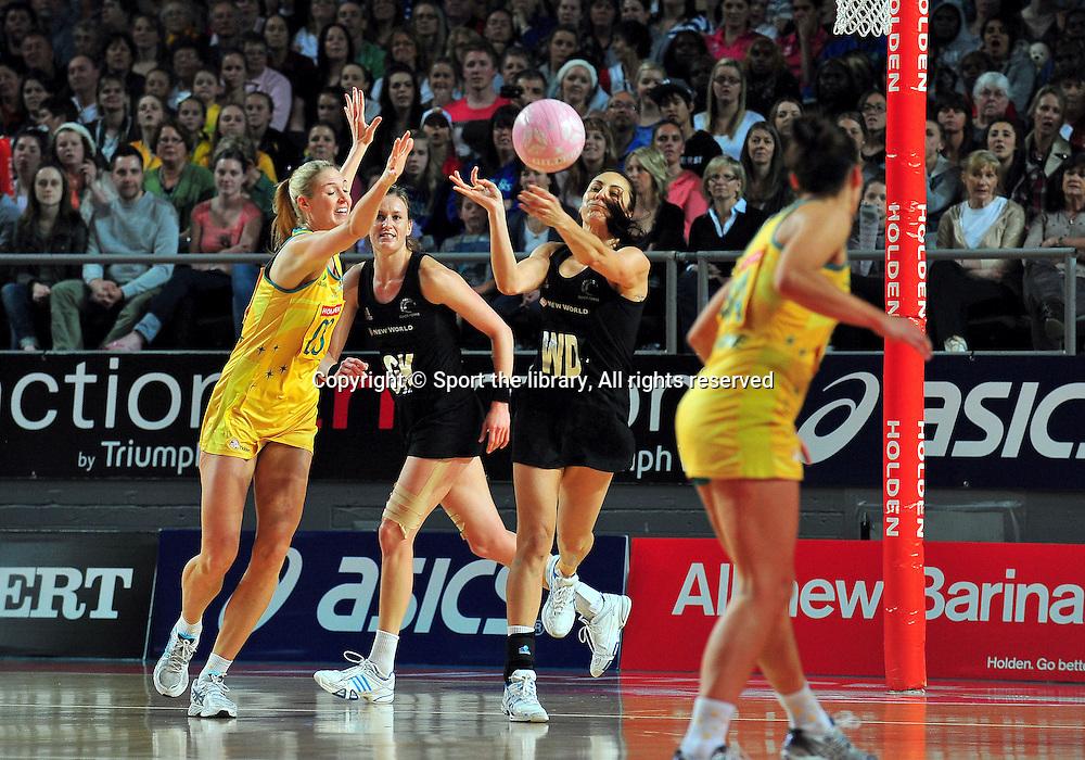 Jolene Henry (NZ)<br /> 2011 Holden Netball Test Series<br /> Australia vs New Zealand <br />  Sunday 30 October 2011<br /> Hisense Arena/ Melbourne Australia <br /> &copy; Sport the library / Jeff Crow