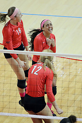 12 October 2013:   Danielle Donahue during an NCAA womens volleyball match between the Missouri State Bears and the Illinois State Redbirds at Redbird Arena in Normal IL