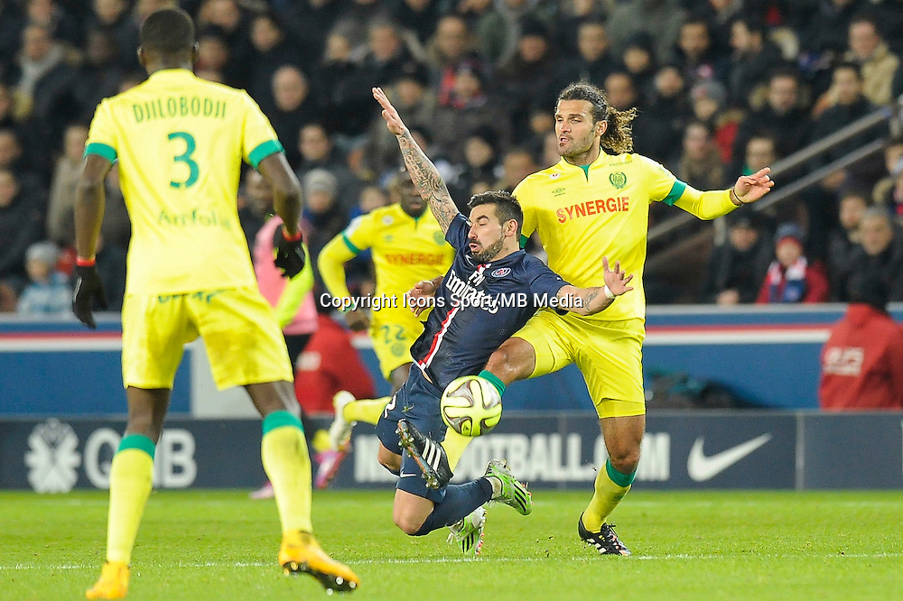 Ezequiel Lavezzi - 06.12.2014 - PSG / Nantes - 17eme journee de Ligue 1<br />