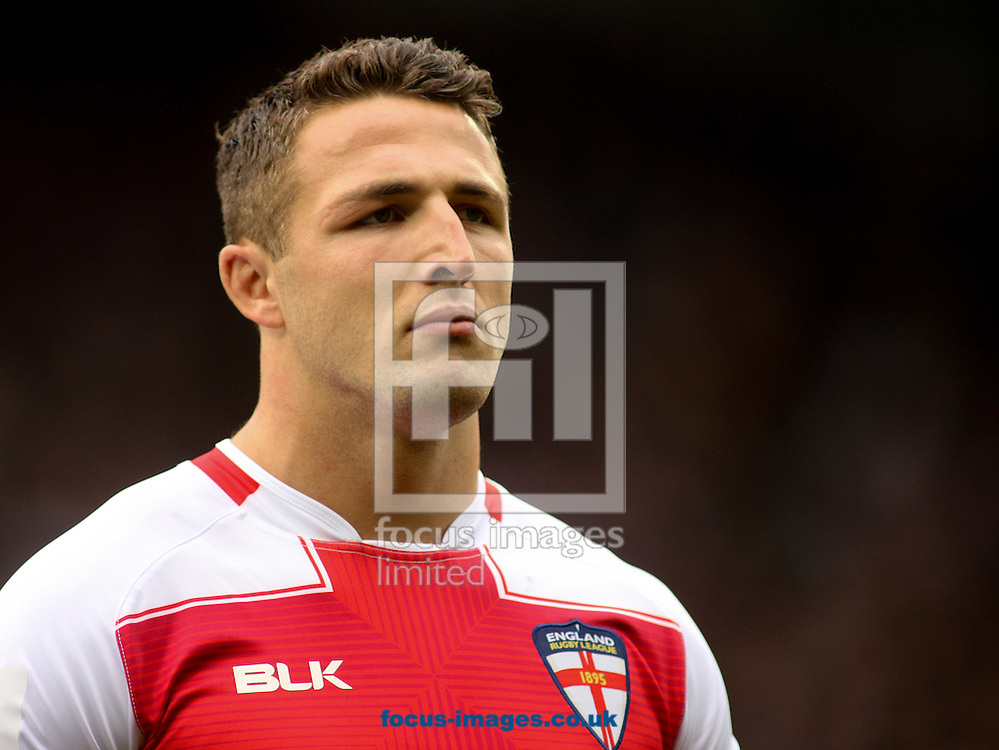 Sam Burgess (Captain) of England during the 2016 Ladbrokes Four Nations match at the John Smiths Stadium, Huddersfield<br /> Picture by Stephen Gaunt/Focus Images Ltd +447904 833202<br /> 29/10/2016