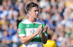 Alex Lacey of Yeovil Town - Photo mandatory by-line: Harry Trump/JMP - Mobile: 07966 386802 - 15/08/15 - SPORT - FOOTBALL - Sky Bet League Two - Yeovil Town v Bristol Rovers - Huish Park, Yeovil, England.
