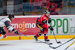 22.10.2016, Ice Rink, Znojmo, CZE, EBEL, HC Orli Znojmo vs Dornbirner Eishockey Club, 13. Runde, im Bild v.l. Charlie Sarault (Dornbirner) Michal Vodny (HC Orli Znojmo) // during the Erste Bank Icehockey League 13th round match between HC Orli Znojmo and Dornbirner Eishockey Club at the Ice Rink in Znojmo, Czech Republic on 2016/10/22. EXPA Pictures © 2016, PhotoCredit: EXPA/ Rostislav Pfeffer