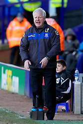 BIRKENHEAD, ENGLAND - Saturday, February 18, 2012: Tranmere Rovers' manager Les Parry during the Football League One match against Charlton Athletic at Prenton Park. (Pic by Vegard Grott/Propaganda)