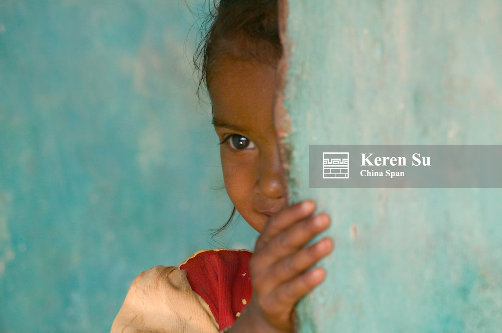 Portrait of a little girl, Orissa, India