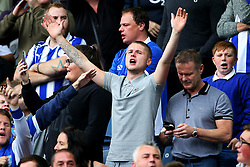 Sheffield Wednesday fans cheer before the match - Mandatory by-line:  Matt McNulty/JMP - 24/09/2017 - FOOTBALL - Hillsborough - Sheffield, England - Sheffield Wednesday v Sheffield United - Sky Bet Championship