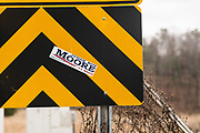 GALLANT, AL – DECEMBER 12, 2017: A Roy Moore sticker on Gallant Road.  CREDIT: Bob Miller for The New York Times