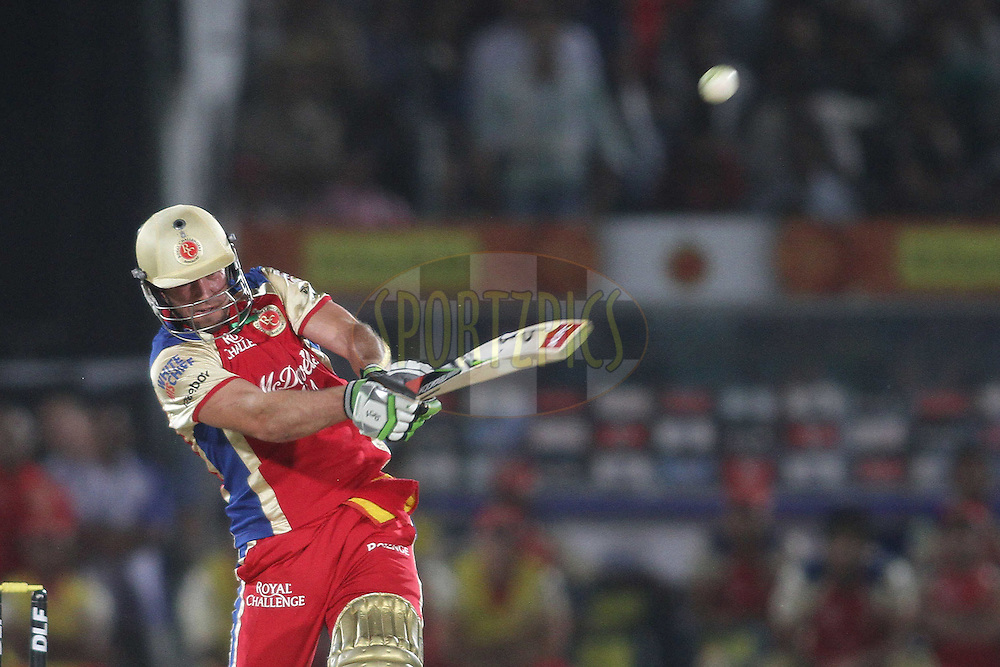 AB de Villiers of the Royal Challengers Bangalore pulls a delivery for six during match 30 of the the Indian Premier League (IPL) 2012  between The Rajasthan Royals and the Royal Challengers Bangalore held at the Sawai Mansingh Stadium in Jaipur on the 23rd April 2012..Photo by Shaun Roy/IPL/SPORTZPICS