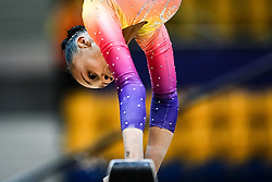 October 28, 2018 - Doha, Quatar - Lorrane Oliveira of  Brazil   during  Balancing Beam qualification at the Aspire Dome in Doha, Qatar, Artistic FIG Gymnastics World Championships on 28 of October 2018. (Credit Image: © Ulrik Pedersen/NurPhoto via ZUMA Press)