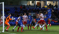 Ryan Tafazolli of Peterborough United rises highest to head the ball goalwards - Mandatory by-line: Joe Dent/JMP - 01/01/2018 - FOOTBALL - ABAX Stadium - Peterborough, England - Peterborough United v Doncaster Rovers - Sky Bet League One