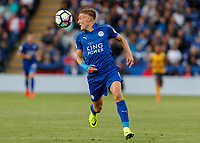 Football - 2016/2017 Premier League - Leicester Ciity V Arsenal. <br /> <br /> Jamie Vardy of Leicester City at The King Power Stadium.<br /> <br /> COLORSPORT/DANIEL BEARHAM
