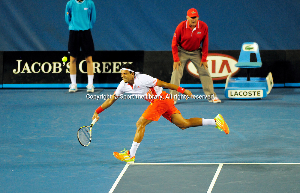 Jo-Wilfried Tsonga(FRA)<br /> 2012 Australian Open Tennis<br /> Melbourne, Victoria<br /> Tuesday January 17th 2012<br /> &copy; Sport the library / Shannon Morris