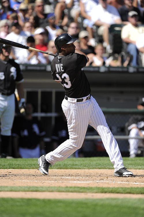 CHICAGO - JUNE 28:  Jermaine Dye #23 of the Chicago White Sox watches the flight of his home run in the eighth inning against the Chicago Cubs on June 28, 2009 at U.S. Cellular Field in Chicago, Illinois.  The White Sox defeated the Cubs 6-0.  (Photo by Ron Vesely)