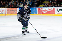 KELOWNA, CANADA, FEBRUARY 8: Tyler Alos #12 of the Seattle Thunderbirds skates on the ice as the Seattle Thunderbirds visit the Kelowna Rockets on February 8, 2012 at Prospera Place in Kelowna, British Columbia, Canada (Photo by Marissa Baecker/www.shootthebreeze.ca) *** Local Caption ***