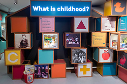 Display inside refurbished Museum of Childhood on the Royal Mile in Edinburgh Old Town, Scotland, United Kingdom
