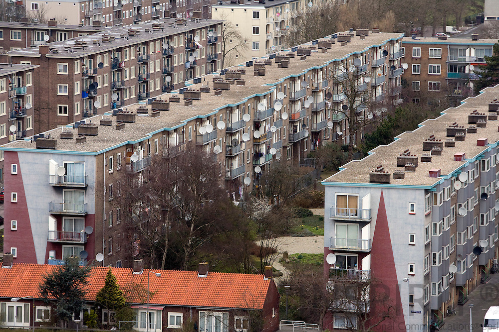 AMSTERDAM - NETHERLANDS - 06 MARCH 2008 -- Apartment blocks from the 1950. Photo: Erik Luntang/INSPIRIT Photo