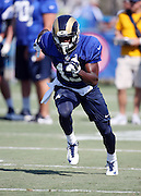 Los Angeles Rams rookie wide receiver Mike Thomas (13) goes out for a pass during the Los Angeles Rams 2016 NFL training camp football practice held on Tuesday, Aug. 2, 2016 in Irvine, Calif. (©Paul Anthony Spinelli)