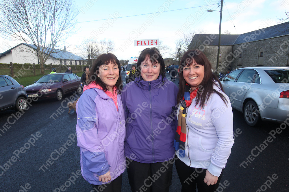 Geraldine Eustace, Theresa and Bernie Haugh pictured at the Labasheeda Walk on Sunday.<br /> Pic. Brian Arthur/ Press 22.