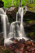 White water streams of a waterfall