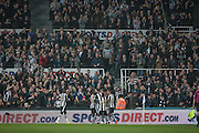 Newcastle players celebrate in front of their fans as they take the lead. 1-0 during the EFL Cup 4th round match between Newcastle United and Preston North End at St. James's Park, Newcastle, England on 25 October 2016. Photo by Mark P Doherty.