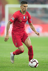 October 11, 2018 - Chorzow, Poland - Joao Cancelo (POR) during the UEFA Nations League A group three match between Poland and Portugal at Silesian Stadium on October 11, 2018 in Chorzow, Poland. (Credit Image: © Foto Olimpik/NurPhoto via ZUMA Press)