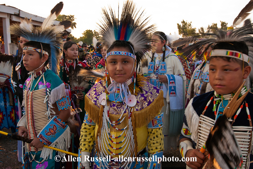 Crow Fair, powwow, Grand Entry, Crow Indian Reservation, Montana, young Traditional Dancers