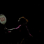 Serena Williams, (pictured) and Sister Venus Williams, USA, playing in the Women's doubles event against Goerges and Parra Santonja during the US Open Tennis Tournament at Flushing Meadows, New York, USA, on Thursday September 3, 2009. Photo Tim Clayton.