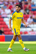 Will Nightingale (#5) of AFC Wimbledon during the EFL Sky Bet League 1 match between Sunderland and AFC Wimbledon at the Stadium Of Light, Sunderland, England on 24 August 2019.