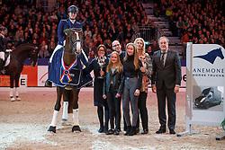 Van Lierop Dana, NED, Gunner KS<br /> KWPN Stallionshow - 's Hertogenbosch 2018<br /> © Hippo Foto - Dirk Caremans<br /> 02/02/2018