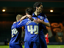 Rochdale's Ian Henderson celebrates after scoring the opening goal to make it 1-0 - Photo mandatory by-line: Matt McNulty/JMP - Mobile: 07966 386802 - 21/04/2015 - SPORT - Football - Rochdale - Spotland Stadium - Rochdale v Leyton Orient - Sky Bet League One