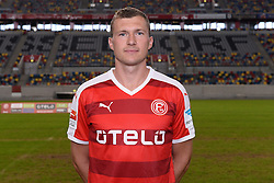 02.07.2015, Esprit Arena, Duesseldorf, GER, 2. FBL, Fortuna Duesseldorf, Fototermin, im Bild Oliver Fink ( Fortuna Duesseldorf / Portrait ) // during the official Team and Portrait Photoshoot of German 2nd Bundesliga Club Fortuna Duesseldorf at the Esprit Arena in Duesseldorf, Germany on 2015/07/02. EXPA Pictures &copy; 2015, PhotoCredit: EXPA/ Eibner-Pressefoto/ Thienel<br /> <br /> *****ATTENTION - OUT of GER*****