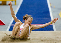 Teresa Dobija of Poland competes in the women's Long Jump Qualification during day seven of the 12th IAAF World Athletics Championships at the Olympic Stadium on August 21, 2009 in Berlin, Germany.(Photo by Vid Ponikvar / Sportida)