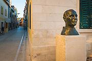 Father Lujo Marun memorial (renowned Croatian archaeologist), Skradin, Dalmatia, Croatia