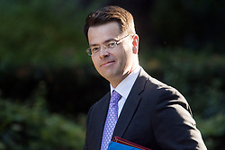 © Licensed to London News Pictures. 12/09/2017. London, UK. Secretary of State for Northern Ireland JAMES BROKENSHIRE arrives at 10 Downing Street in London ahead of a cabinet meeting.  In the early hours of this morning government won a vote in Commons passing the EU repeal bill, by a margin of 326 to 290 votes. Photo credit: Ben Cawthra/LNP
