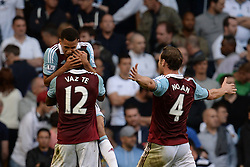 West Ham United's Ricardo Vaz Te and West Ham United's Kevin Nolan celebrate a goal - Photo mandatory by-line: Mitchell Gunn/JMP - Tel: Mobile: 07966 386802 06/10/2013 - SPORT - FOOTBALL - White Hart Lane - London - Tottenham Hotspur V West Ham United - Barclays Premiership