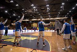 Players of Slovenia before Handball friendly match before EURO 2018 between National teams of Slovenia and Serbia, on January 10, 2018 in Rdeca dvorana, Velenje, Slovenia. Photo by Urban Urbanc / Sportida