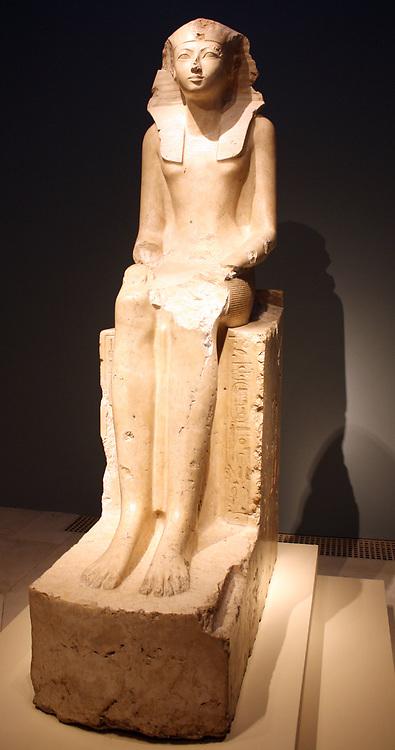 Seated Statue of Queen Hatshepsut circa 1473–1458 B.C.  Egypt, Upper Egypt; Thebes, Deir el-Bahri