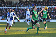Scunthorpe United captain Rory McArdle (23) on the ball during the EFL Sky Bet League 1 match between Bristol Rovers and Scunthorpe United at the Memorial Stadium, Bristol, England on 24 February 2018. Picture by Gary Learmonth.