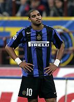 Milano 30-10-2004<br /> <br /> Campionato di calcio Serie A 2004-05<br /> <br /> Inter Lazio 1-1<br /> <br /> nella  foto Adriano disappointed after Lazio Draw<br /> <br /> Foto Snapshot / Graffiti