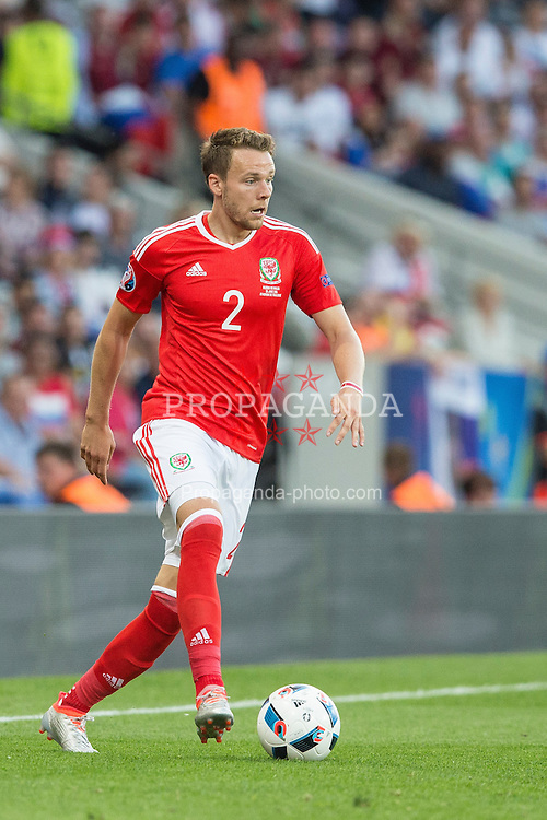 TOULOUSE, FRANCE - Monday, June 20, 2016: Wales' Chris Gunter in action against Russia during the final Group B UEFA Euro 2016 Championship match at Stadium de Toulouse. (Pic by Paul Greenwood/Propaganda)