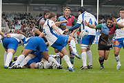 Twickenham. Great Britain, Montpelliers, Harley CRANE, kicks to clear the ball from the back from the scrum, during the European Challenge Cup, match between, NEC Harlequins and Montpellier, on Sat., 28/10/2006, played at the Twickenham Stoop, England. Photo, Peter Spurrier/Intersport-images]......