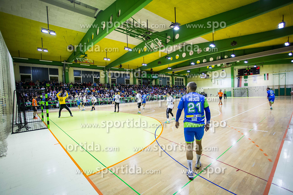 Medved of Slovenia during Handball friendly match between Slovenia and Iran, on January 4, 2018 in Dol pri Hrastniku, Dol pri Hrastniku, Slovenia. Photo by Ziga Zupan / Sportida