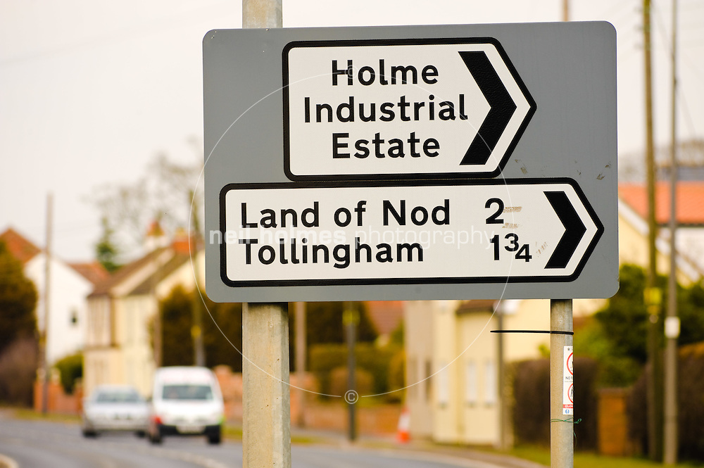 Land of Nod is the name of a small hamlet in the East Riding of Yorkshire, UK. It is located at the far end of a two mile long road which joins the A614 road at Holme-on-Spalding-Moor.