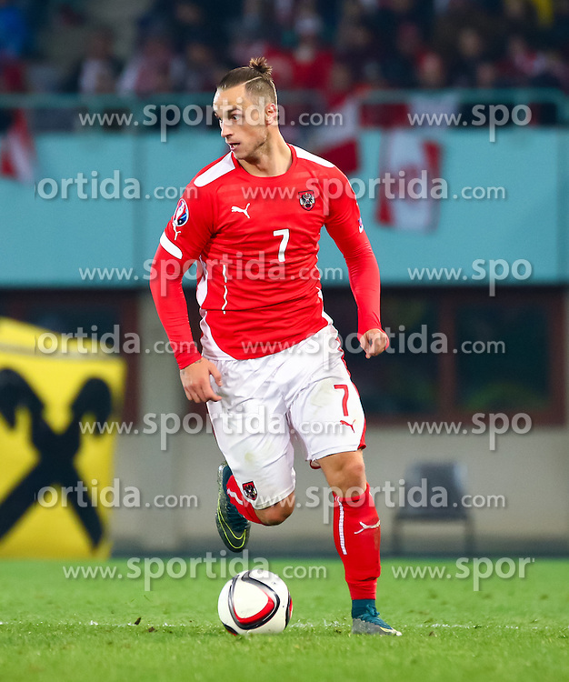 12.10.2015, Ernst Happel Stadion, Wien, AUT, UEFA Euro 2016 Qualifikation, Österreich vs Liechtenstein, Gruppe G, im Bild Marko Arnautovic (AUT) // the UEFA EURO 2016 qualifier group G match between Austria and Liechtenstein at the Ernst Happel Stadion, Vienna, Austria on 2015/10/12. EXPA Pictures © 2015 PhotoCredit: EXPA/ Sebastian Pucher