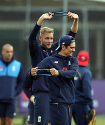 England's Alastair Cook during the nets session at Lord's, London.
