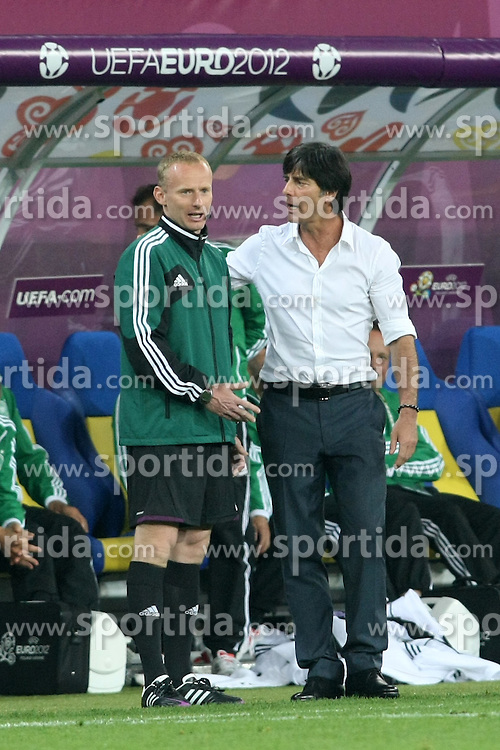 09.06.2012, Arena Lwiw, Lemberg, UKR, UEFA EURO 2012, Deutschland vs Portugal, Gruppe B, im Bild MARCIN BORSKI JOACHIM LOEW // during the UEFA Euro 2012 Group B Match between Germany and Portugal at the Arena Lviv, Lviv, Ukraine on 2012/06/09. EXPA Pictures © 2012, PhotoCredit: EXPA/ Newspix/ Piotr Kucza..***** ATTENTION - for AUT, SLO, CRO, SRB, SUI and SWE only *****